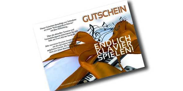 Klavierkurs Gutschein